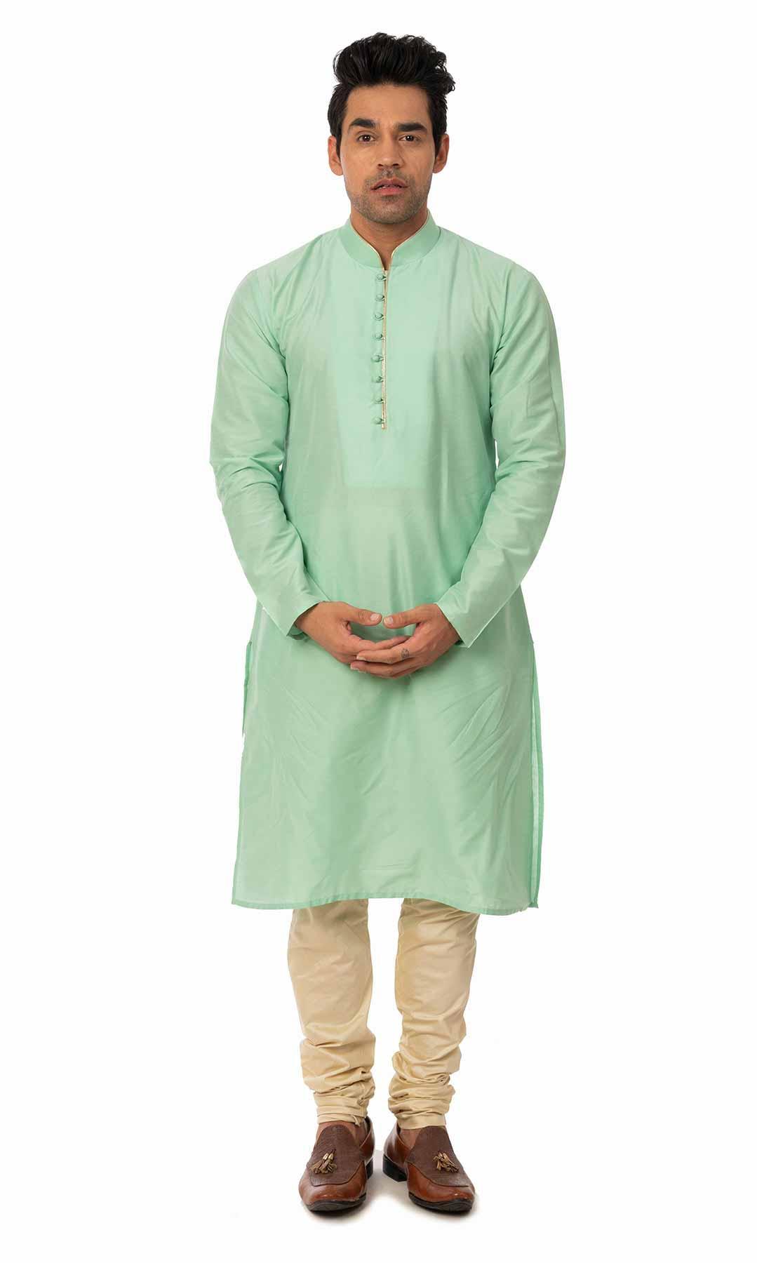 Ferozi Cotton Silk Kurta Set  – Viraaya By Ushnakmals